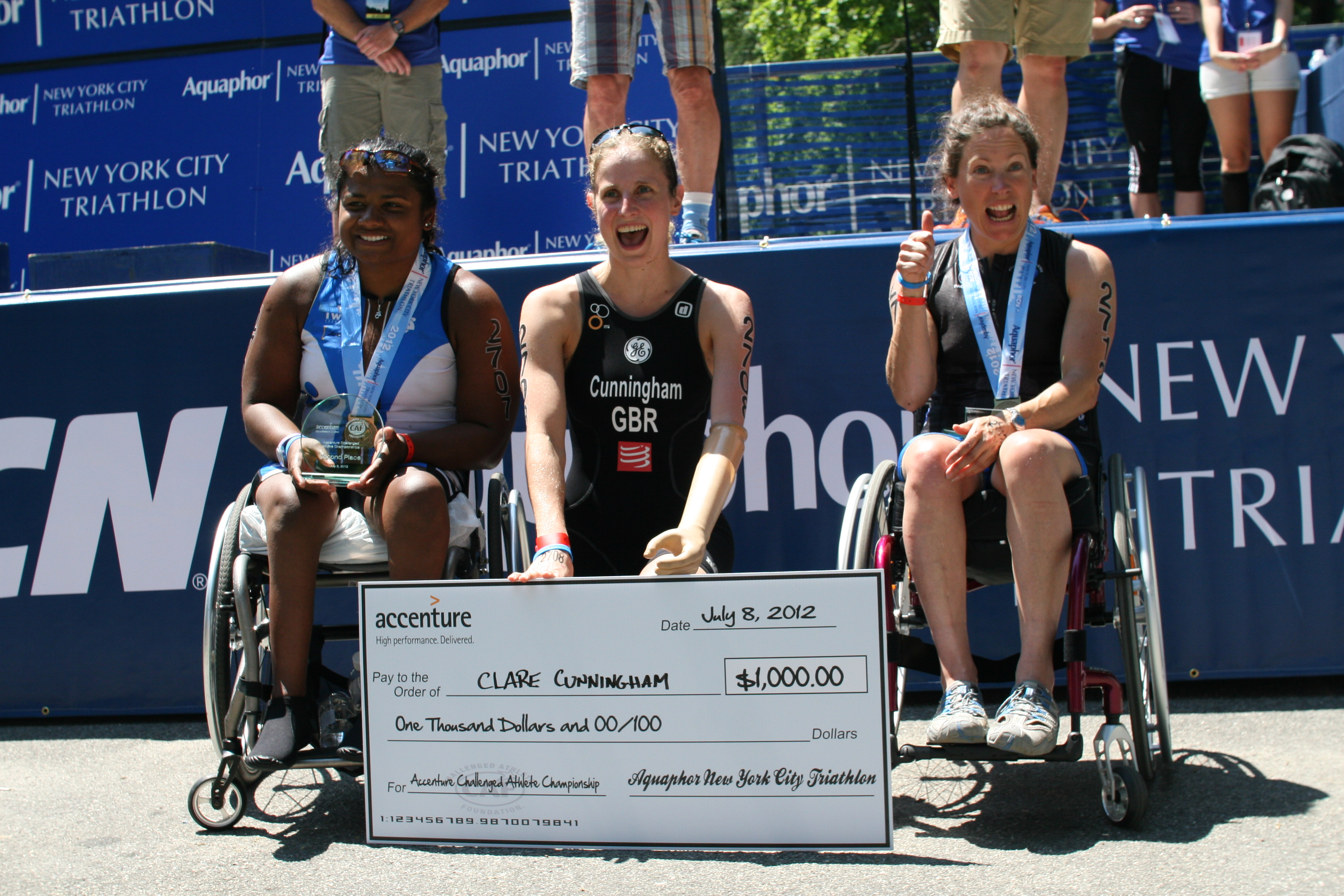 Minda Winning 2nd Place at 2012 NYC TRI