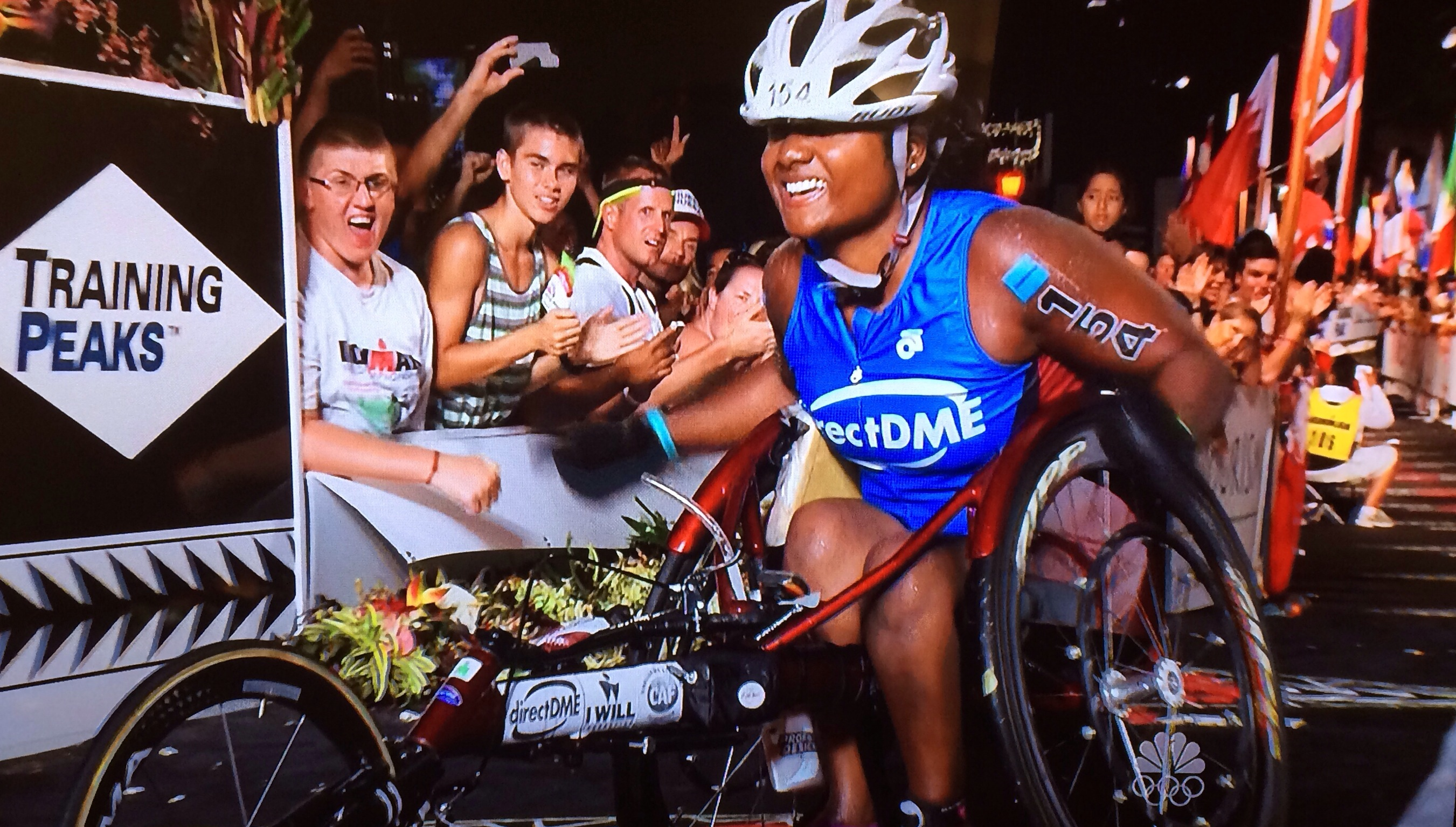 Minda Dentler - Ironman Finish on NBC